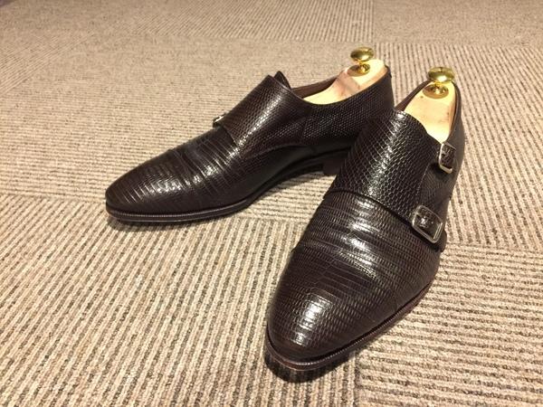 リザード 靴 カルミナ