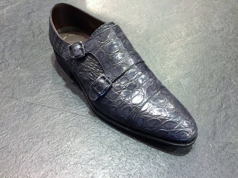 カルミナ 革靴 クロコダイル