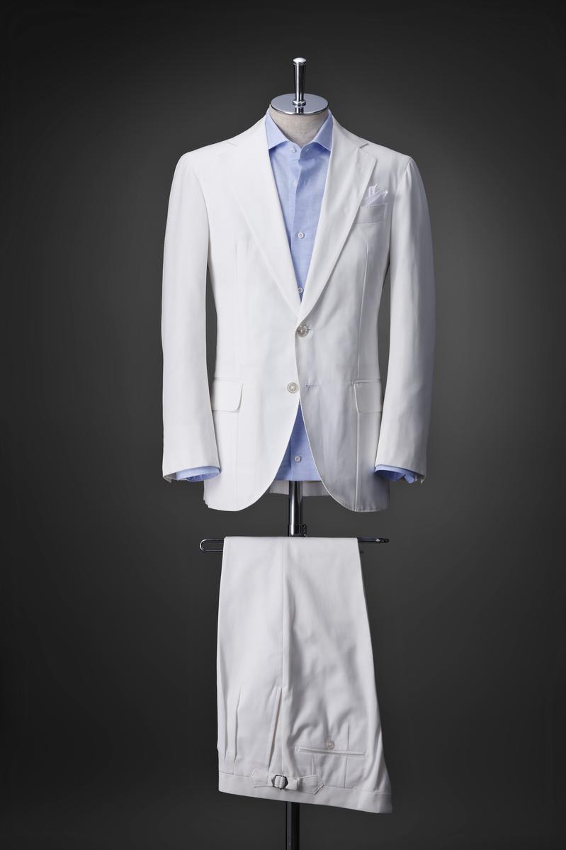 コットン、白スーツ【Corvo(コルヴォ)スーツ】