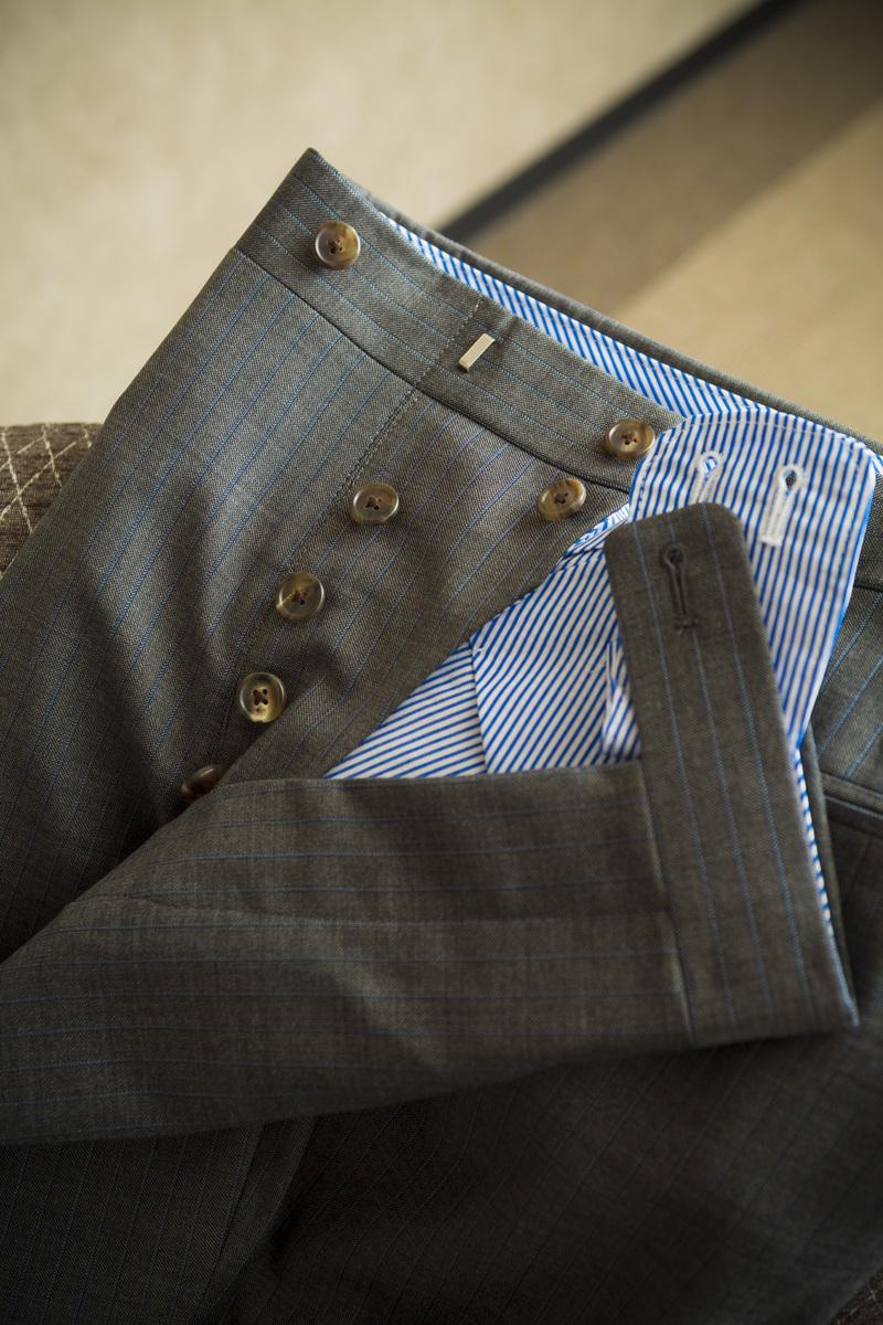 パンツは一人の職人による丸縫い オーダースーツ 大阪