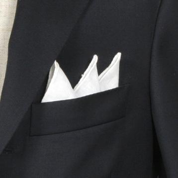 オーダースーツ 大阪 ポケットチーフ